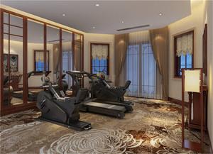 高端健身房装修效果图
