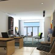 简易小型办公室装修图