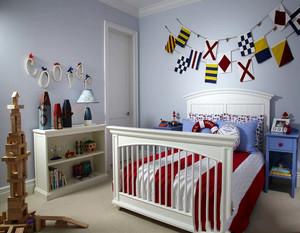儿童房小面积效果图