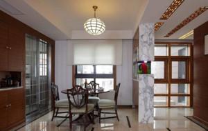 中式风格餐厅方形吊顶装修效果图赏析