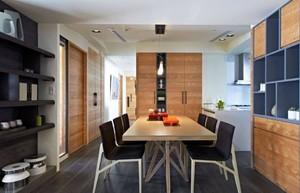 现代简约家庭餐厅装修效果图