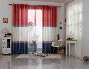 儿童房地中海风格窗帘效果图