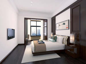 新中式主卧室装修效果图