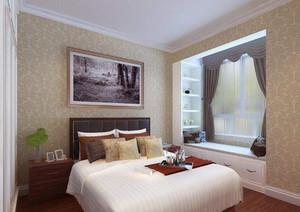 卧室清新小窗帘效果图