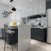 120平米简约风格厨房装修图片