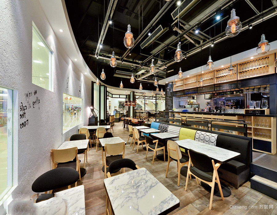 工装咖啡厅装修效果图