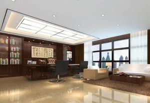 总裁办公室中式装修图