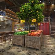 高端水果店装修效果图