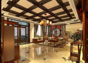 中式风格客厅木质吊顶装修效果图赏析