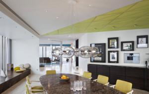 混搭风格开放式厨房吊顶装修效果图赏析