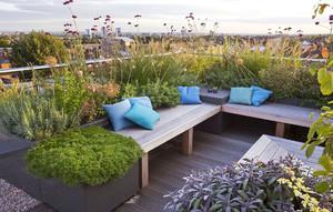 现代屋顶花园装修案例