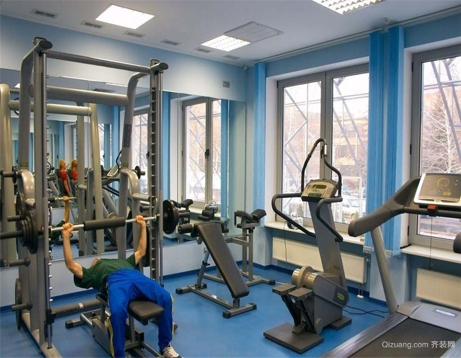 中型健身房装修效果图
