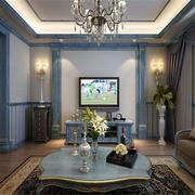 法式代硬包电视墙效果图