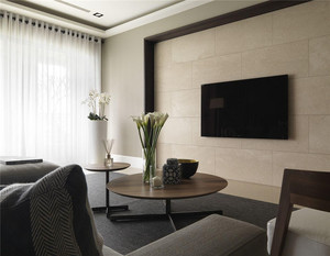 现代硬包电视墙效果图