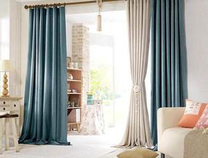 高端大气客厅窗帘装修效果图