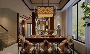中式别墅餐厅装修效果图