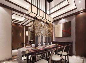 新中式别墅餐厅装修图片