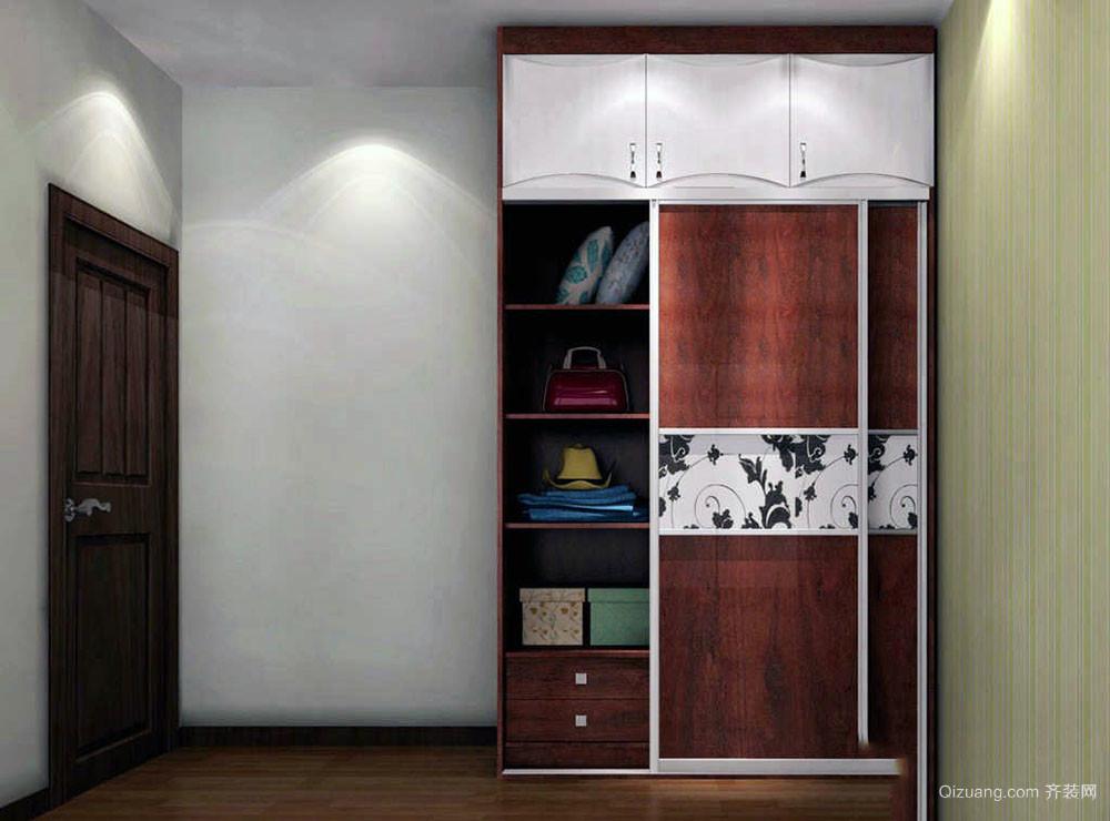 卧室一面墙衣柜效果图