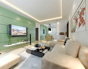 茶色玻璃电视墙效果图
