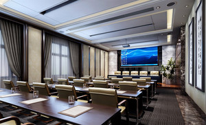 多媒体会议室装修效果图赏析