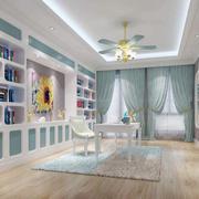 地中海风格书房设计效果图