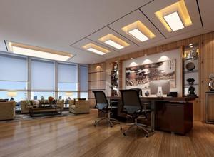 现代风格办公室效果图