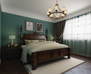 舒适美式卧室装修效果图