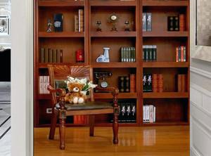 书房书架的设计效果图