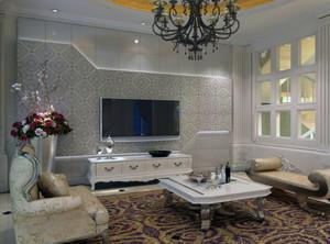 客厅集成电视背景墙效果图