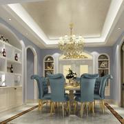 欧式华丽风格餐厅装修效果图