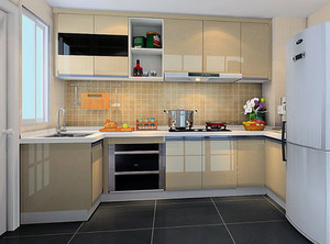半开放式厨房玻璃隔断效果图