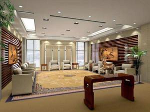 大型企业中式风格会客厅效果图