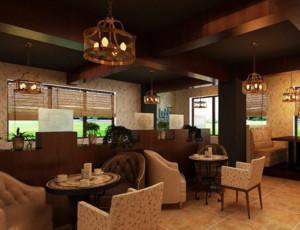欧式风格咖啡厅装修效果图