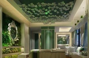 自然森系风格美容院装修效果图