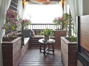 大户型阳台入户花园装修案例