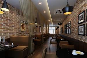 工业复古风咖啡厅装修效果图