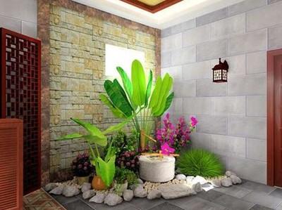 现代风格玄关处入户花园设计案例