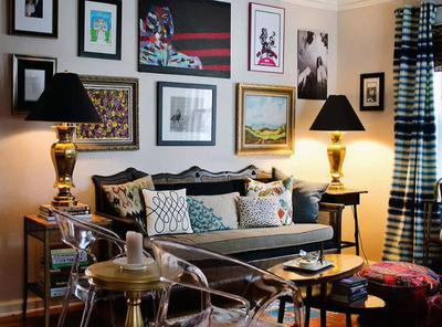 客厅美式风格照片墙装修效果图