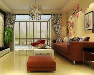现代客厅窗帘装饰效果图展示