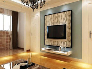 大户型客厅欧式电视背景墙装修效果图