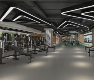 140平米现代健身房装修效果图