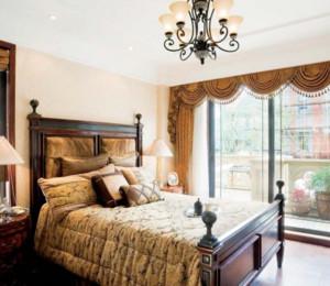 欧式别墅主卧窗帘设计效果图展示