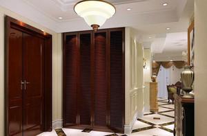 中式风格三居室鞋柜装修效果图