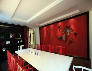 新中式会议室装修效果图