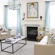 2018现代客厅窗帘装修效果图