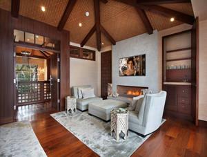 别墅复古风格客厅装修效果图