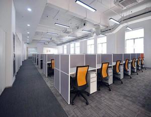 白领开放区域办公室装修效果图