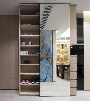 简约风格鞋柜设计效果图,现代风格的鞋柜,简洁大方的外观,光滑流畅的线条,色泽明亮的漆面,使得整个鞋柜看起来清新靓丽。