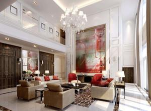 120平客厅简约风格装修效果图