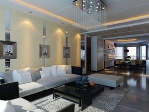 120平米简欧风格会客厅装修效果图